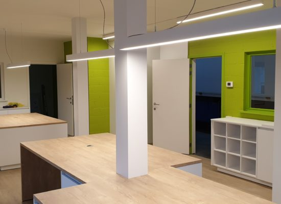 wit ledprofiel interieurverlichting kantoor Modular