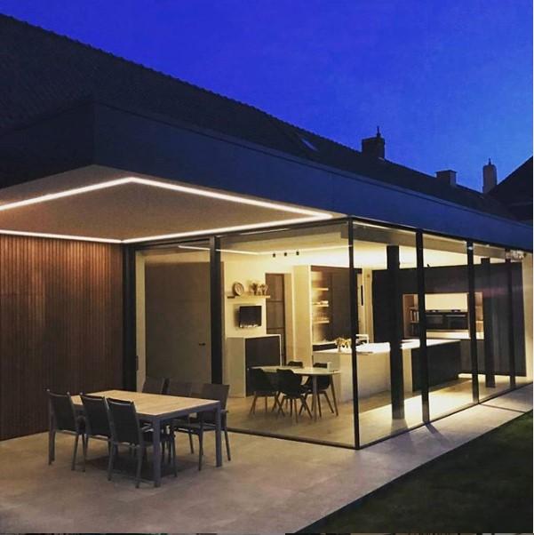buitenverlichting villa donker gezelligheid