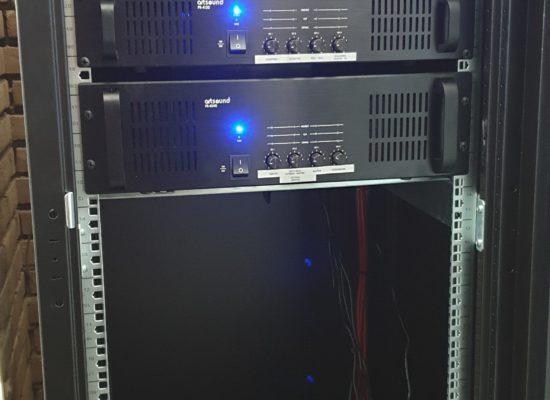 Algemeen omroepsysteem in combinatie met muziekzones in een woonzorgcentrum  gigamedia artsound PR-4120 PR-4240 MAT-8000